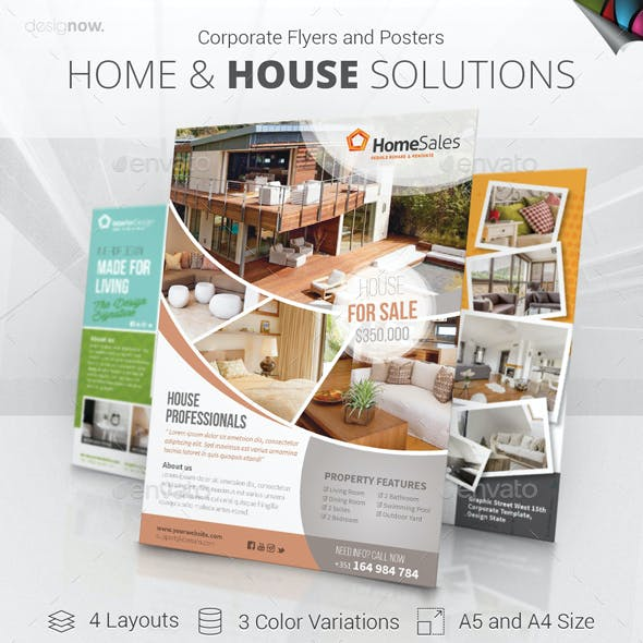 Home And House - Flyer and Poster