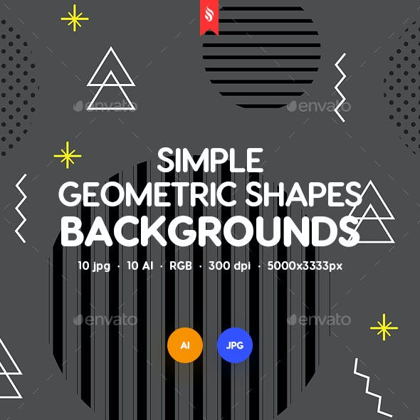 Simple Geo Shapes Backgrounds