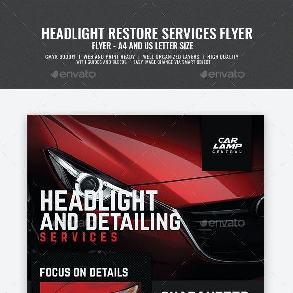 Headlight Restoration Promotional Flyer