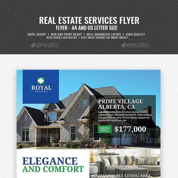 Simple Modern Real Estate Promotional Flyer