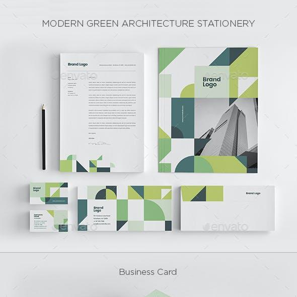 Modern Green Architecture Stationery