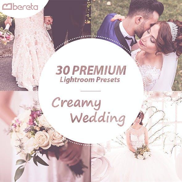 30 Premium Creamy Wedding Lightroom Presets