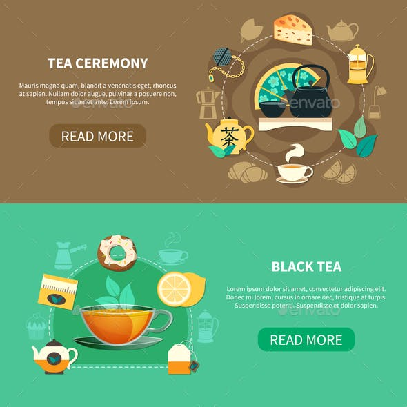 Tea Ceremony Horizontal Banners
