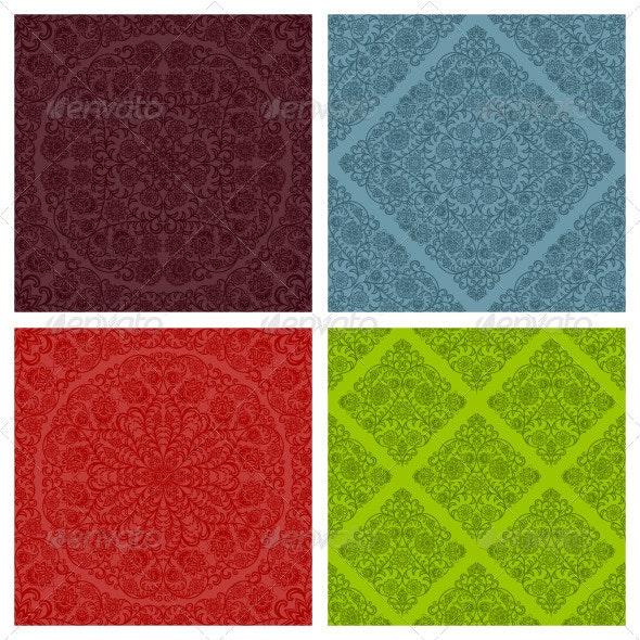 Seamless floral patterns set - Patterns Decorative