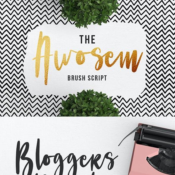 Awosem Typeface