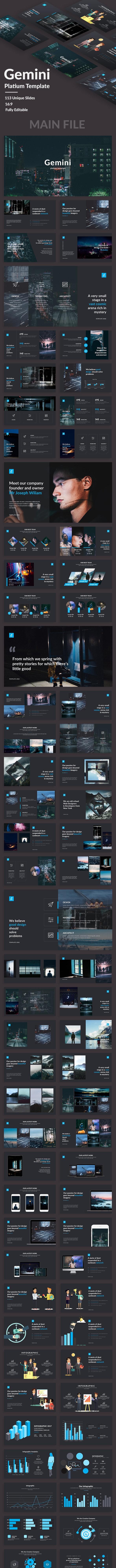 Gemini Platium Google Slide Template - Google Slides Presentation Templates
