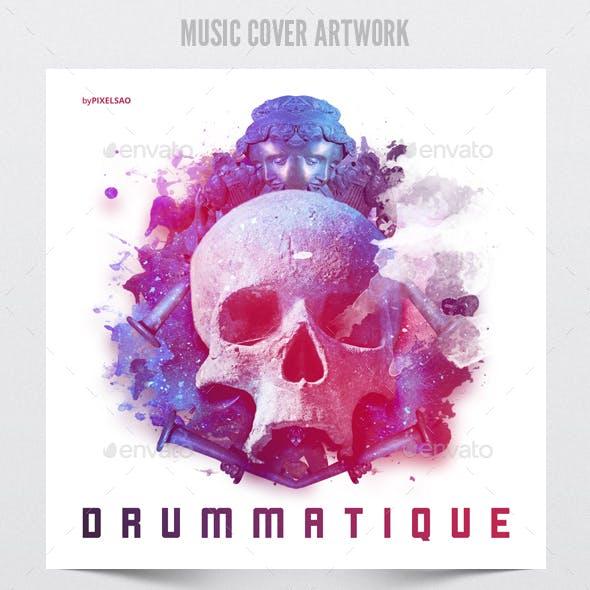 Drummatique - Music Album Cover Artwork Template