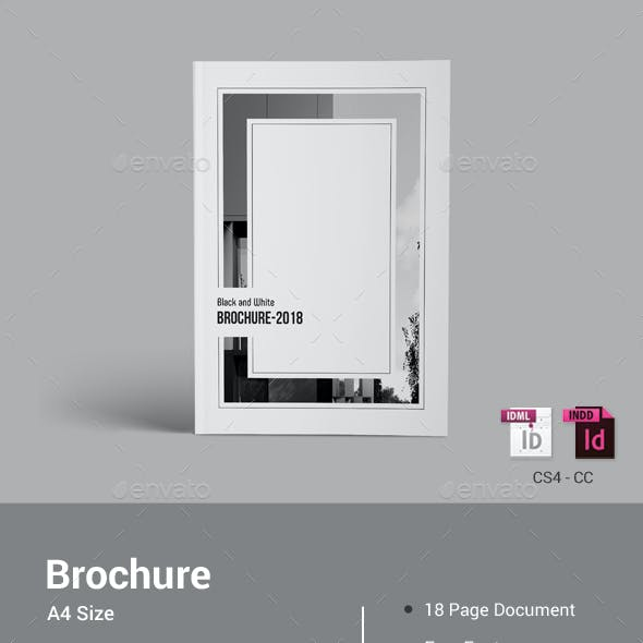 Black & White Brochure