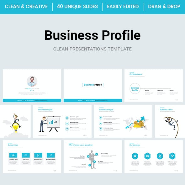 Business Profile PowerPoint Template 2018