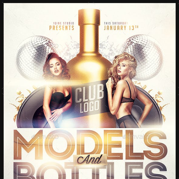 Models and Bottles Party Flyer Template