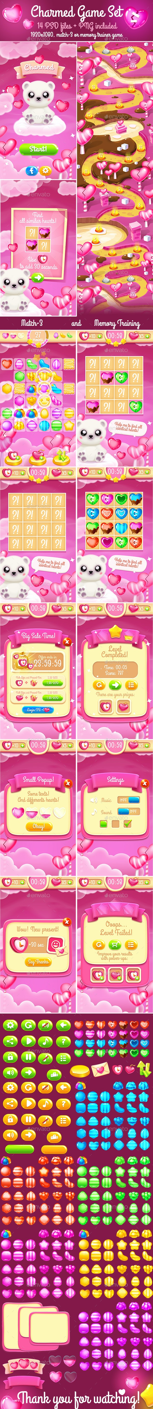 Charmed Valentine Game Template - Game Kits Game Assets