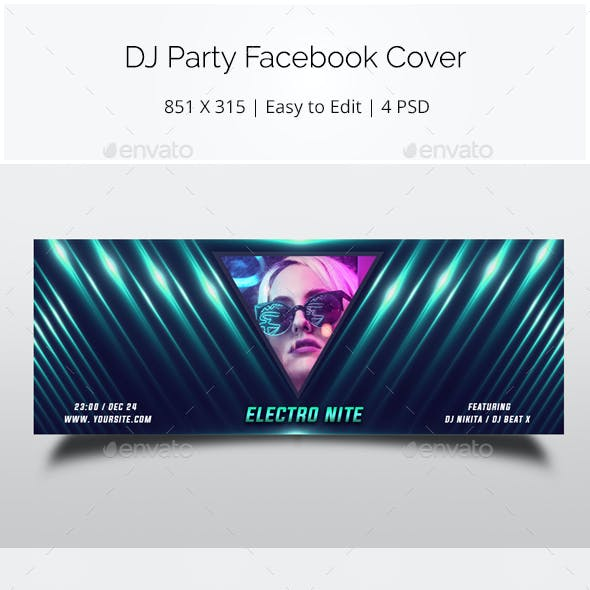 DJ Party Facebook Cover