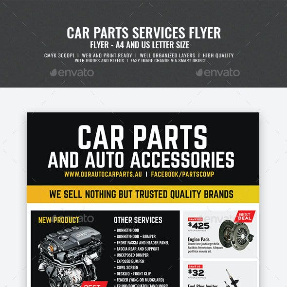 Auto Car Spare Parts Flyer