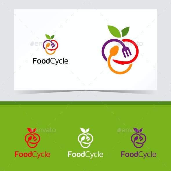 Food Cycle Logo Template