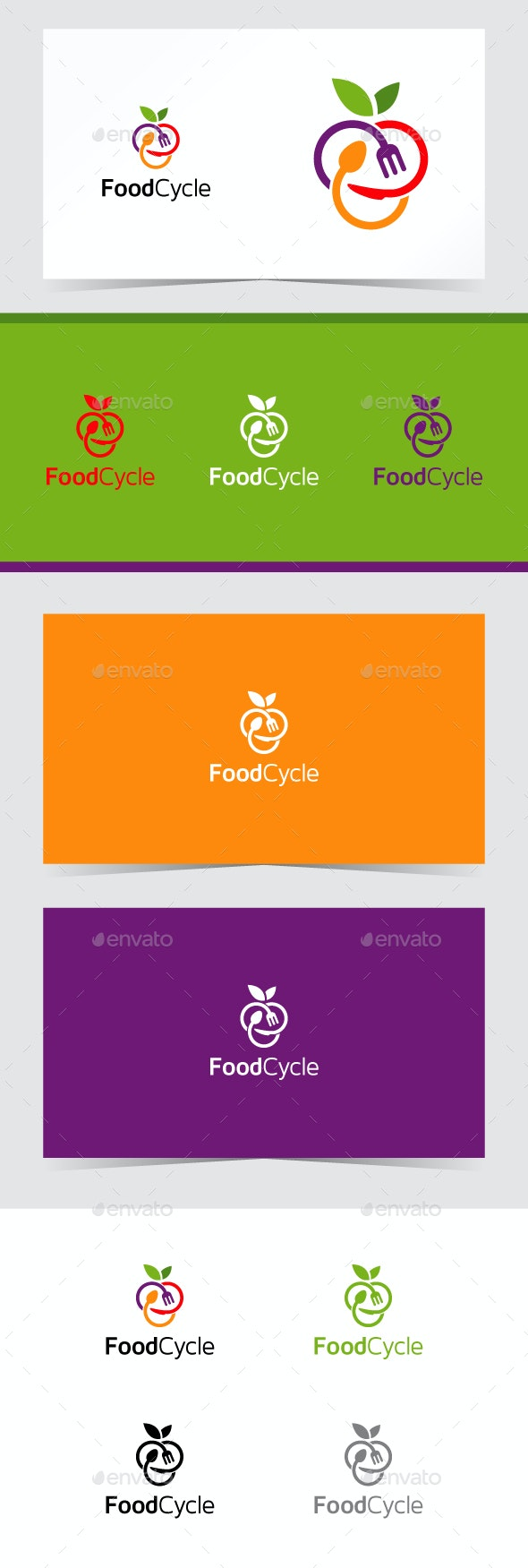 Food Cycle Logo Template - Food Logo Templates