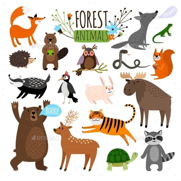 Forest Animals Set