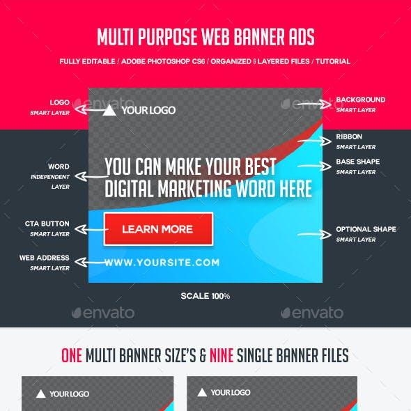 Multi Purpose Web Banner Ads