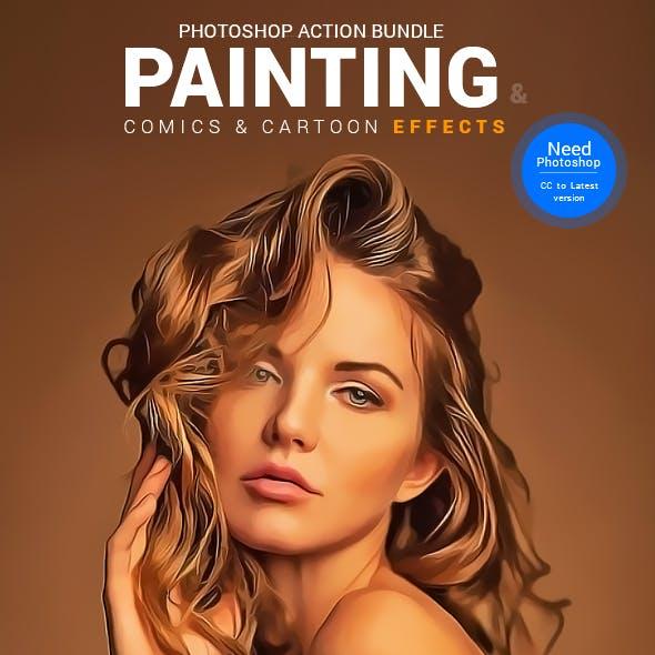 Painting, Comics & Cartoon Actions Bundle