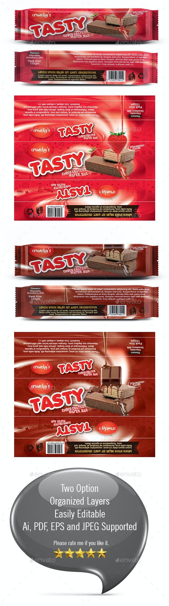 Chocolate Bar Wrapper Tempalte