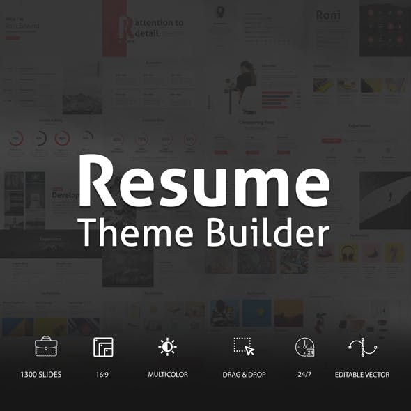Resume Theme Builder - Minimal Powerpoint Template