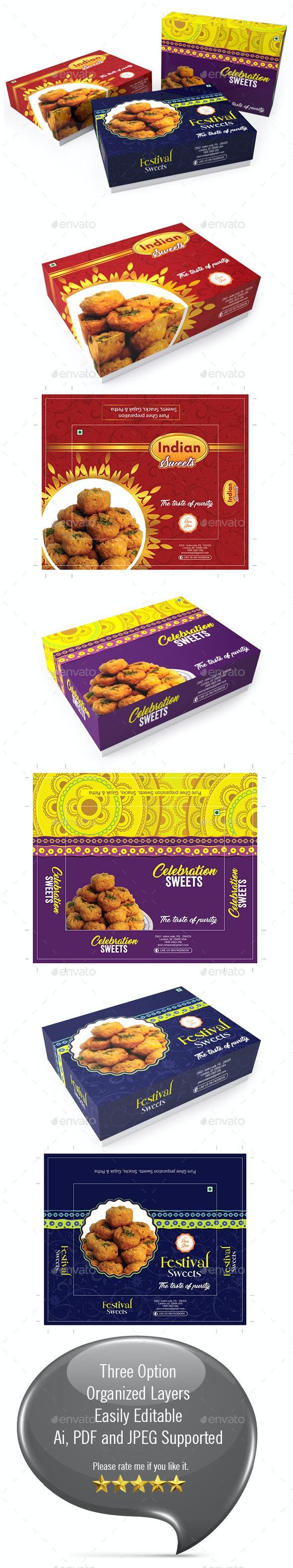 Sweet Box Packaging Template Vol-01