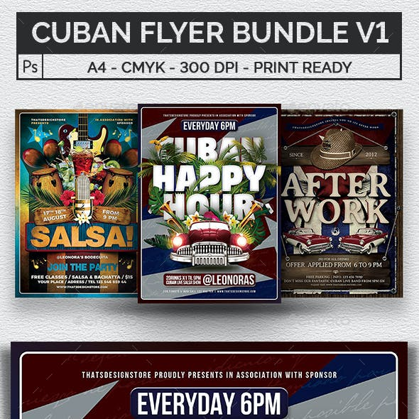 Cuban Flyer Bundle V1