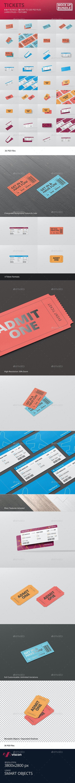 Ticket Mockup Bundle - Miscellaneous Print
