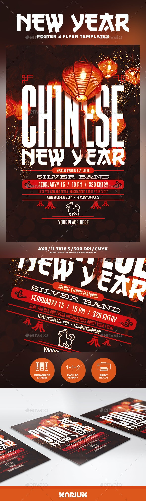 Chinese New Year Flyer & Poster - Holidays Events