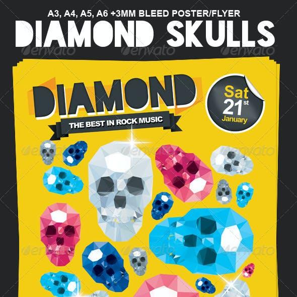Diamond Skulls Poster / Flyer