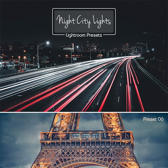 10 Lightroom Presets Night City Lights