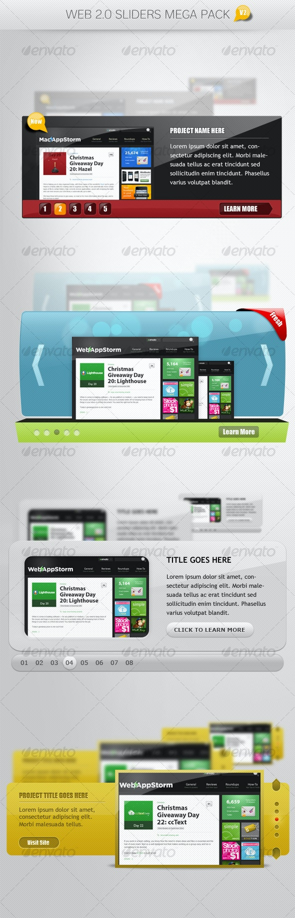 Web 2.0 Sliders Mega Pack V2 - Web Elements