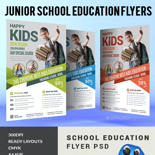 Junior School Education Flyers