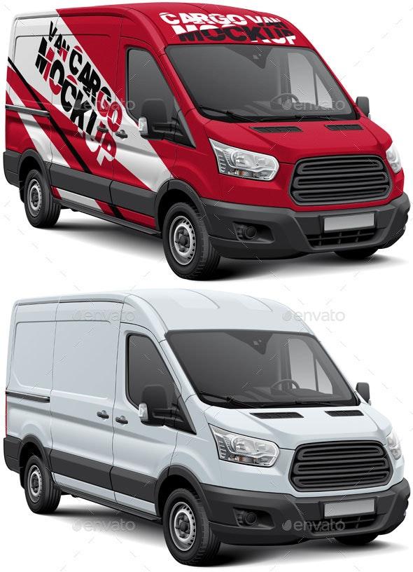 Cargo Van Mockup - Vehicle Wraps Print