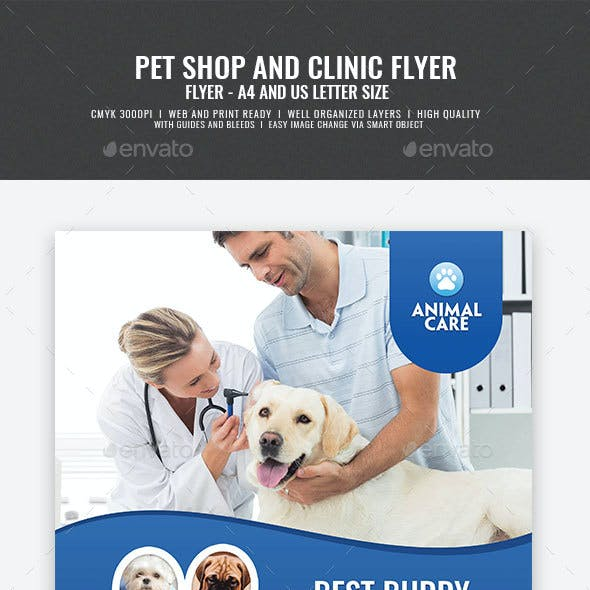 Pet Care and Clinic Flyer