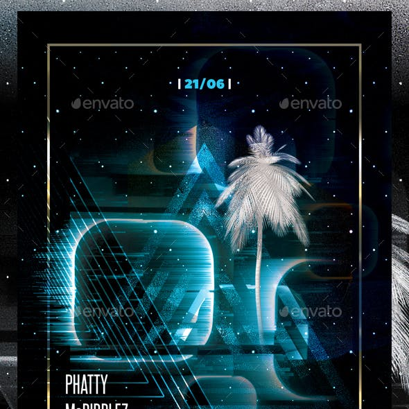 Abstract Retro Flyer Template