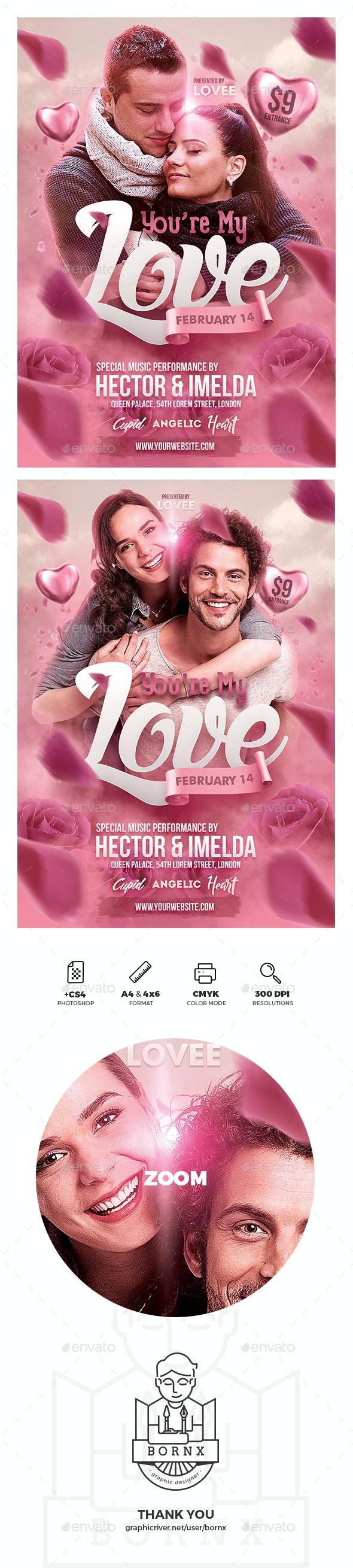 Romantic Valentine Poster - Events Flyers