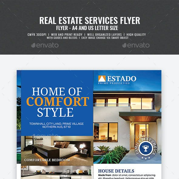 Modern and Corporate Real Estate Flyer