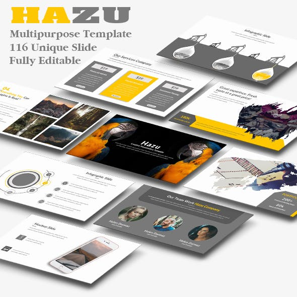 Hazu Multipurpose Google Slide Template