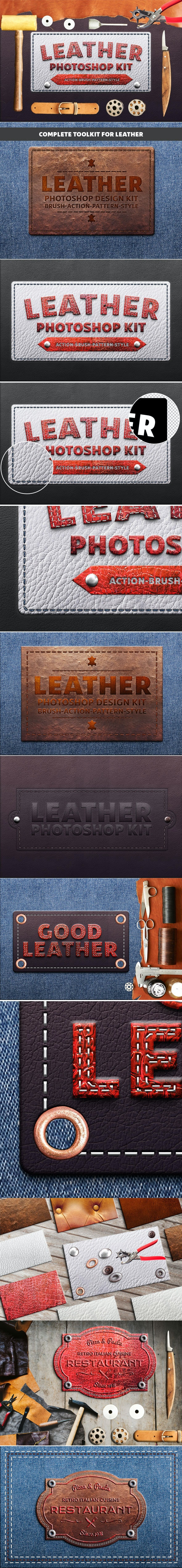 Photoshop Leather Kit - Utilities Actions