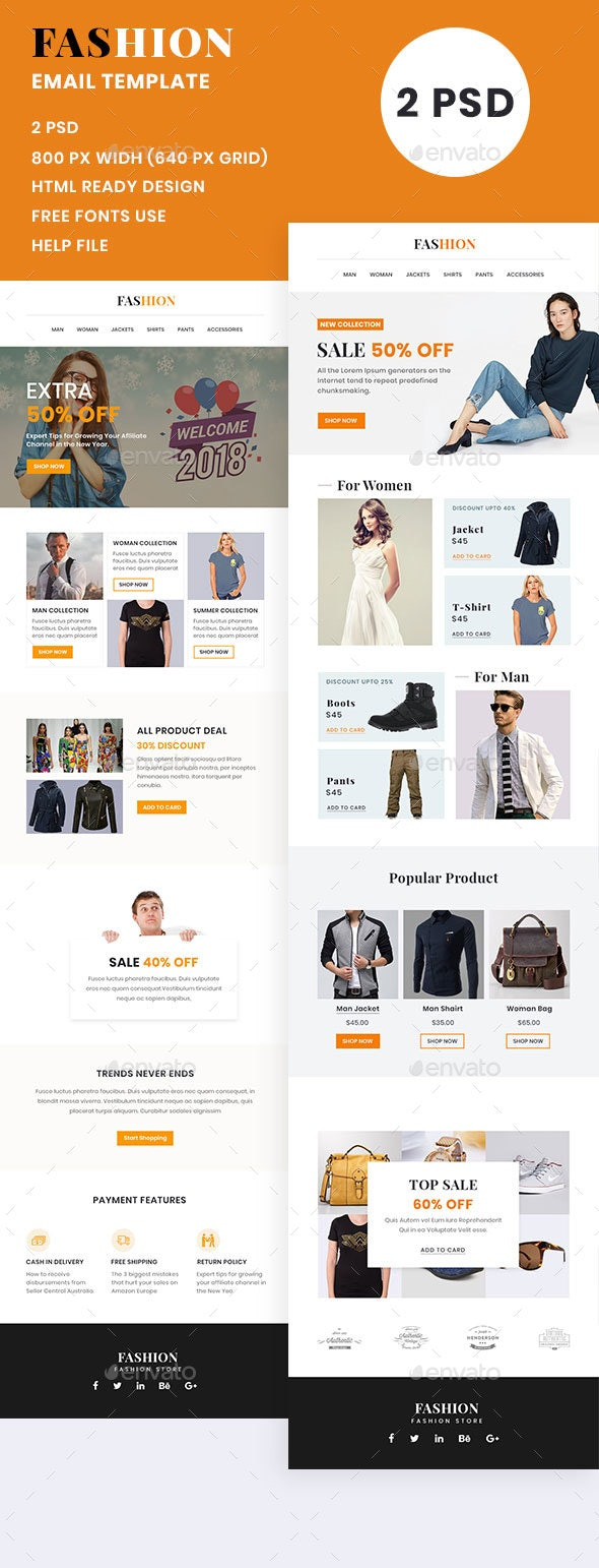 Fashion Shop Email Template