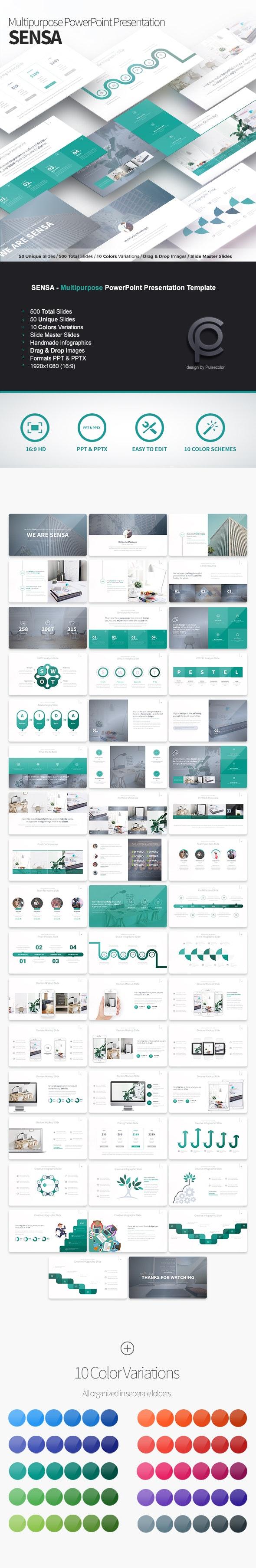 Sensa - Multipurpose PowerPoint Presentation Template - Business PowerPoint Templates
