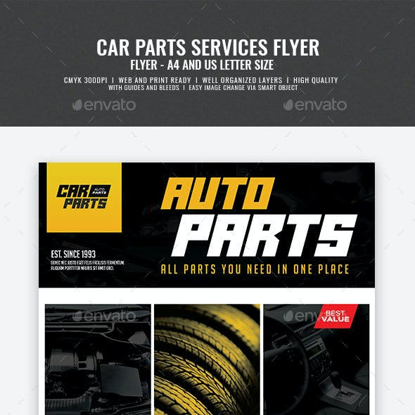Automotive Parts Supply Center Flyer