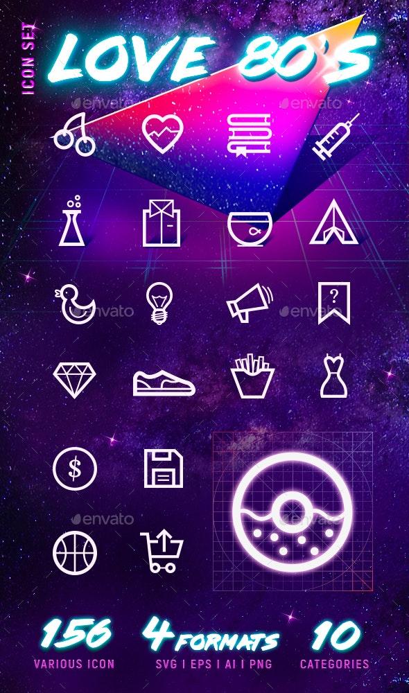 80s Icon set - Web Icons