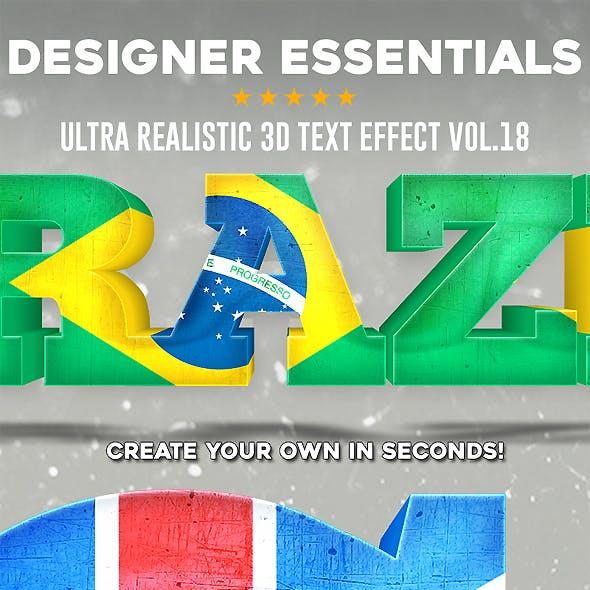 Designer Essentials Ultra Realistic 3D Text Effect Vol.18