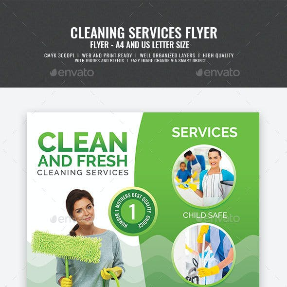 House Cleaning Services Promotional Flyer