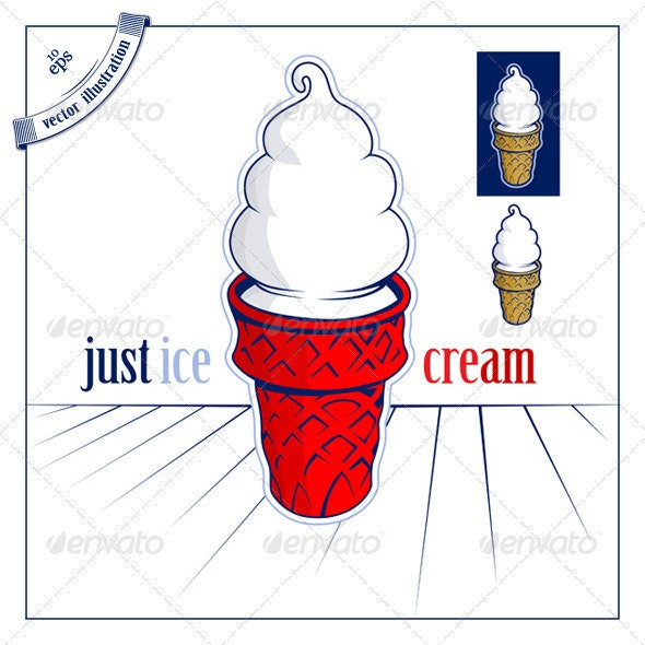 Ice Cream Icon - People Characters