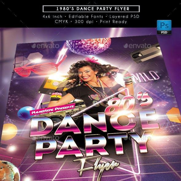 80's Retro Dance Party Flyer