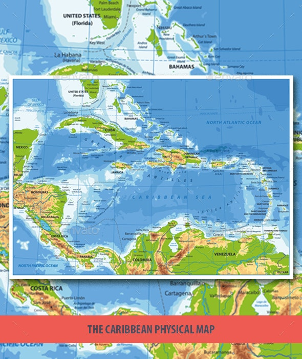 The Caribbean Physical Map by Cartarium | GraphicRiver on map of s america and caribbean, time zone map of caribbean, satellite map of caribbean, large map of the caribbean, political map of caribbean, world map caribbean, map of middle america and caribbean, geography of caribbean, color map of caribbean, elevation of caribbean, full map of caribbean, topographic map of caribbean, educational map of caribbean, outline map of caribbean, relief map of caribbean, blank map of caribbean, culture of caribbean, population density map of caribbean, map of of caribbean, physical features of caribbean islands,