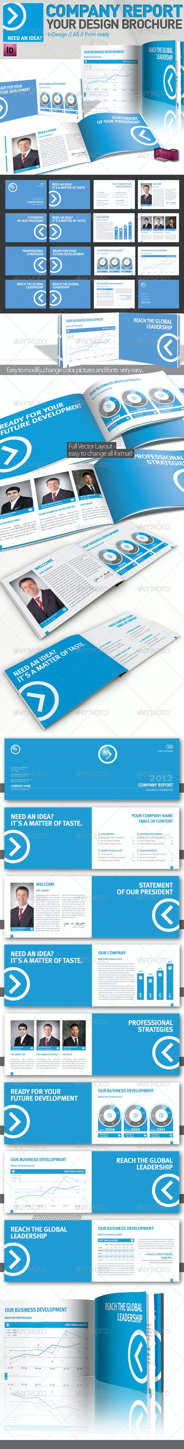 Company Brochure // Magazine Template // A5 - Corporate Brochures