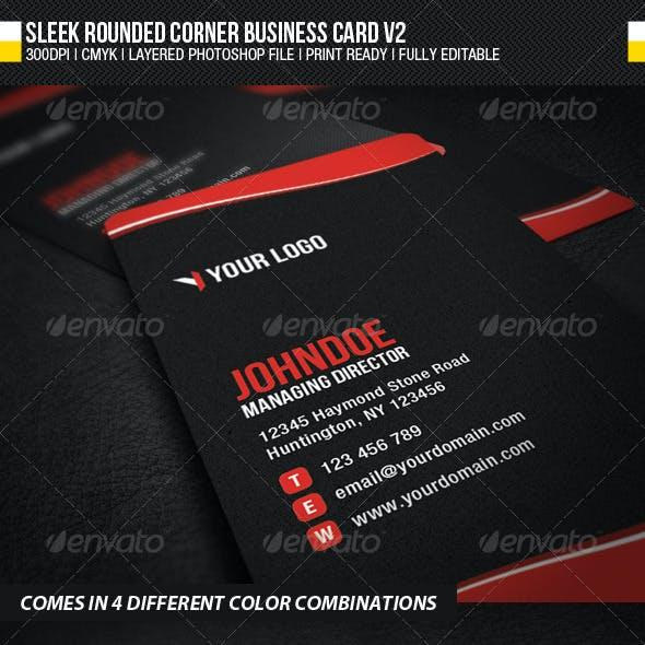 Sleek Rounded Corner Business Card V2
